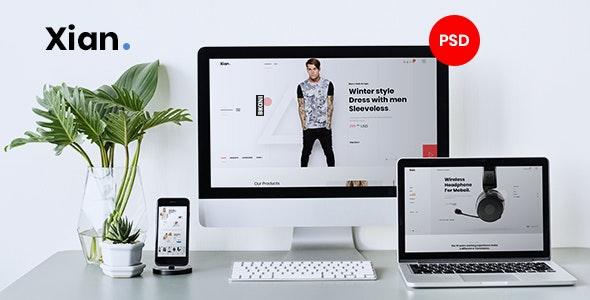 Xian - Multipurpose e-Commerce PSD Template - Retail Photoshop