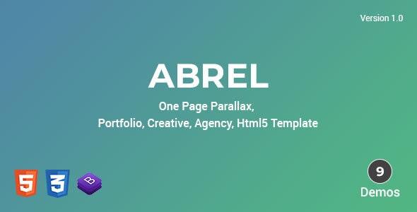 Abrel - One Page Parallax - Portfolio Creative