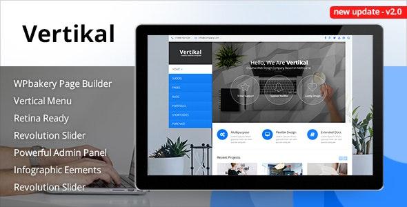 Vertikal | Responsive WordPress Theme - Business Corporate
