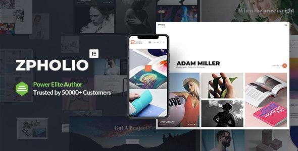 Zpholio | Creative Portfolio WordPress Theme for Elementor - Portfolio Creative