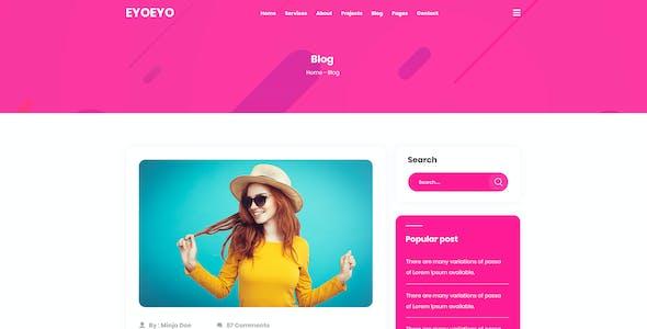 EYOEYO | Personal Portfolio PSD Template
