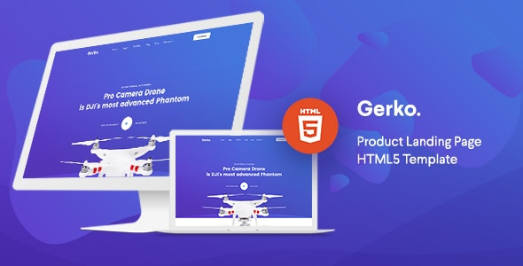 Gerko - Product Landing Page Template with Bootstrap - Technology Site Templates