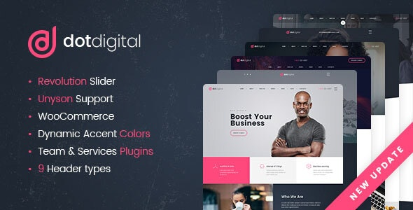 DotDigital – Web Design Agency WordPress Theme by