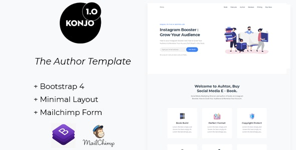 Konjo - The Author Template - Corporate Site Templates