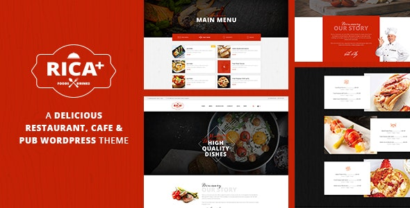 Rica - A Delicious Restaurant, Cafe & Pub WP Theme - Restaurants & Cafes Entertainment