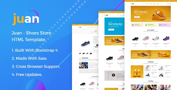Juan – Shoes Store HTML Template - Fashion Retail
