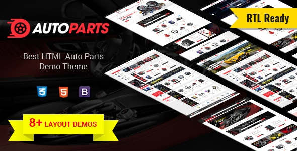 AutoParts  - Tools, Equipments and Accessories Store HTML Template - Retail Site Templates