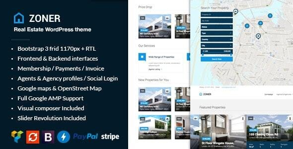 Zoner - Real Estate WordPress Theme - Real Estate WordPress