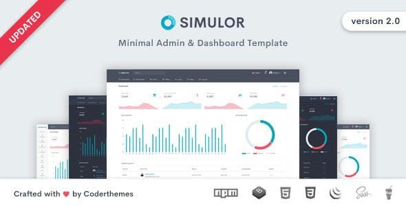 Simulor - Minimal Admin & Dashboard Template