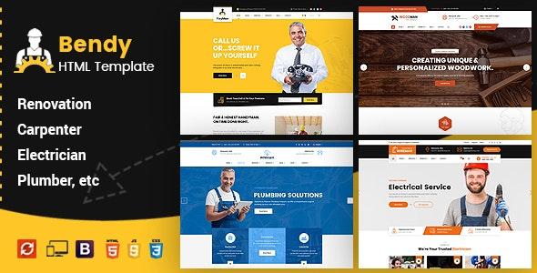 Bendy - Handyman Business HTML Template - Business Corporate
