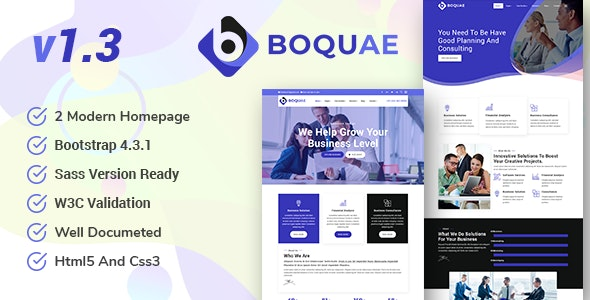 Boquae - Business Consulting And Finance HTML5 Template - Corporate Site Templates