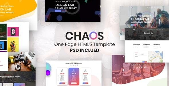 Chaos - Creative Parallax One Page HTML5 Template - Creative Site Templates