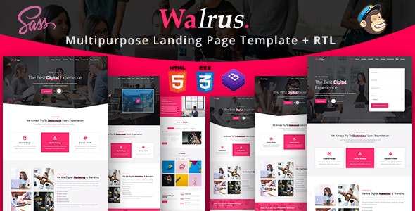 Walrus | Multi-Purpose Landing Page HTML Template - Business Corporate