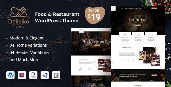 Deliciko - Restaurant WordPress Theme nulled theme download