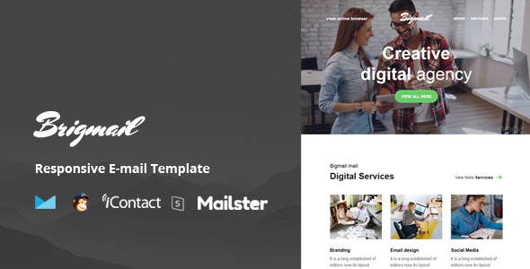Brigmail - Modules + Online Access + Mailster + MailChimp - Email Templates Marketing