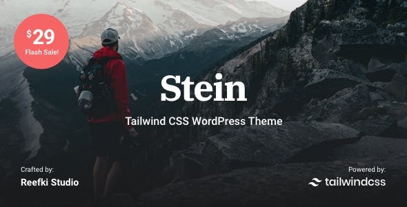Stein - Tailwind CSS WordPress Theme for Bloggers nulled theme download