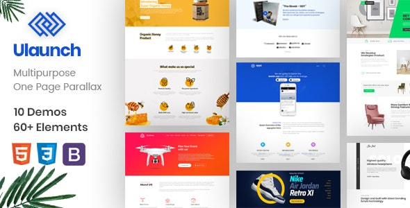 ULaunch - One Page Parallax - Marketing Corporate