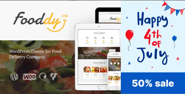 Fooddy 24/7 - Food Ordering & Delivery WordPress Theme - Food Retail