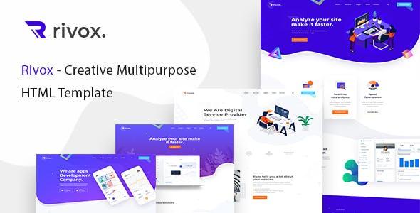Rivox - Creative Multi-Purpose HTML Template nulled theme download