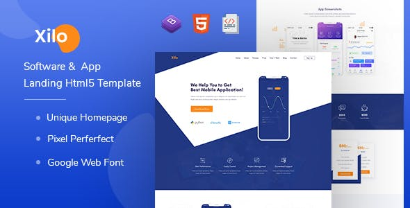 Xilo - Software &  App Landing Html 5 Template nulled theme download