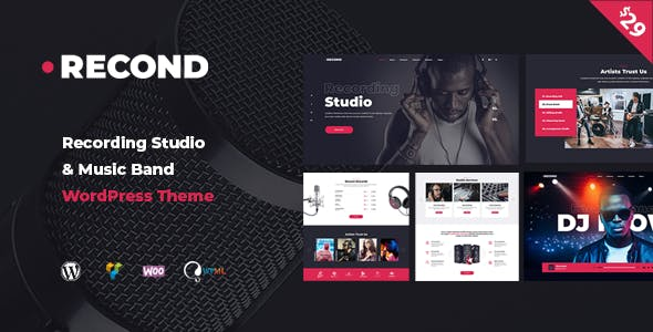 Recond - Recording Studio & Music Band WordPress Theme nulled theme download