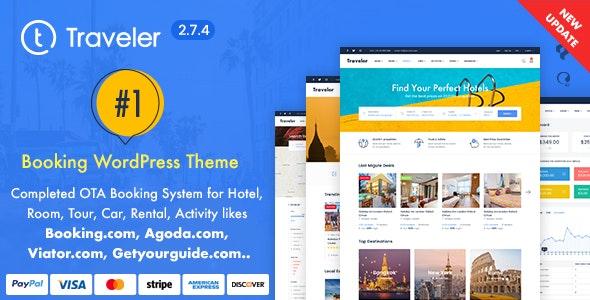 Traveler – Travel Booking WordPress Theme