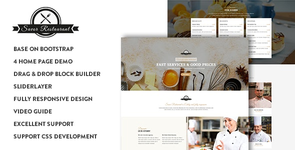 Savor - Restaurant, Cafe & Food Drupal 8.7 Theme - Food Retail