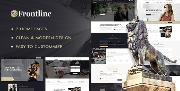 Frontline - Attorney & Lawyer PSD Template - Business Corporate
