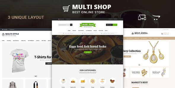 Multi Shop - OpenCart 2 & 3 Responsive Theme