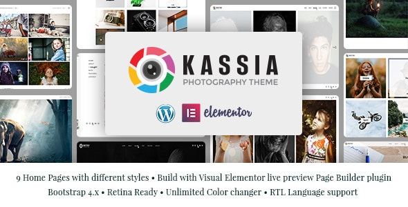 Kassia - Photography WordPress Theme - Photography Creative