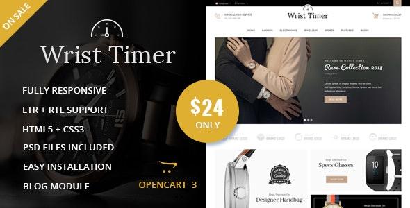Wrist Timer - OpenCart Responsive Theme - Technology OpenCart