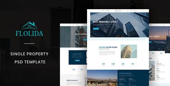 Folida – Single Property PSD Template - PSD Templates