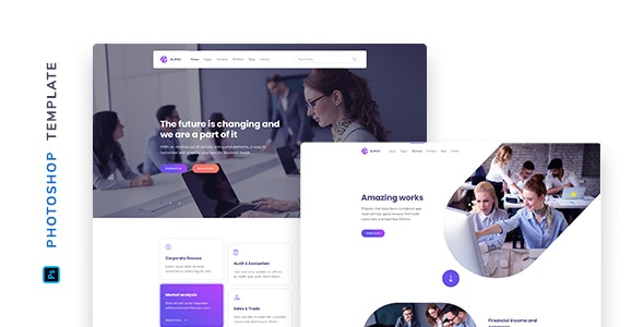 Elipso – Agency Photoshop Template - Corporate PSD Templates