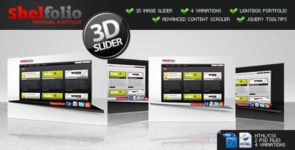 Shelfolio | HTML + CSS + jQuery - Portfolio Creative