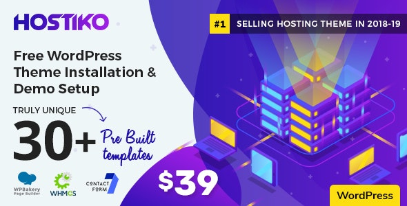 Hostiko WordPress WHMCS Hosting Theme by designingmedia