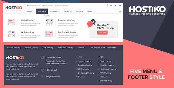 Vps WordPress Website Host Themes from ThemeForest