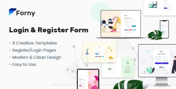 Download Forny - Login and Register Form Templates