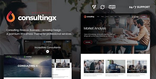 Consulting X – Finance & Business WordPress Theme - Business Corporate