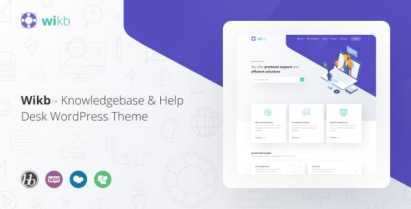Wikb - Knowledgebase & Help Desk WP Theme nulled theme download