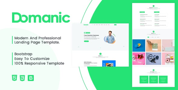 Dominic Responsive Bootstrap 4 Personal Template - Personal Site Templates
