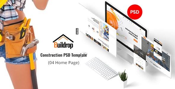Buildrop - Construction PSD Template - Corporate Photoshop