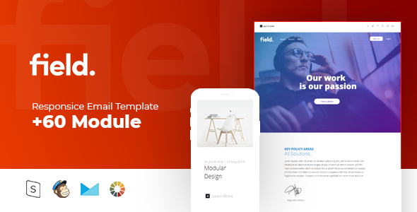 Field - Multipurpose Responsive - Newsletters Email Templates