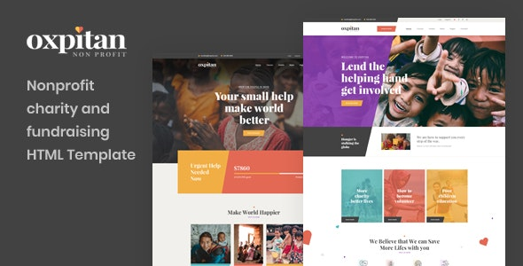 Oxpitan - Nonprofit Charity and Fundraising HTML5 Template - Charity Nonprofit