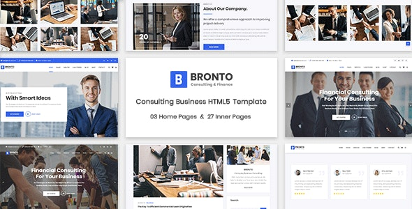 Bronto - Consulting Business HTML5 Template - Business Corporate