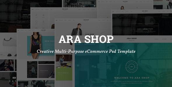 Ara - Fashion Store Multipurpose PSD Template - Shopping Retail