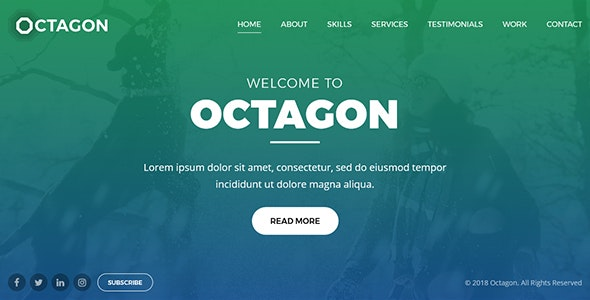 Octagon - Website Template for Portfolio, Agency and Business - Portfolio Creative