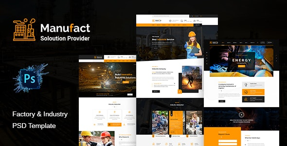 Manufact: Industrial Business PSD Template - Business Corporate