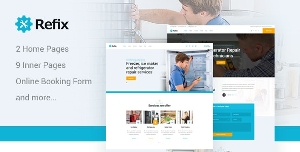 Refix - Fridge & Freezer Repair Company PSD Template - Business Corporate
