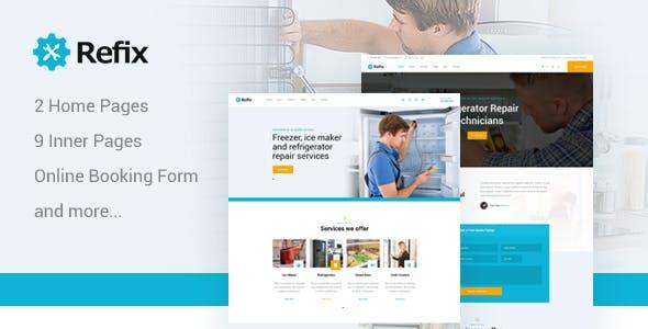 Refix - Fridge & Freezer Repair Company PSD Template