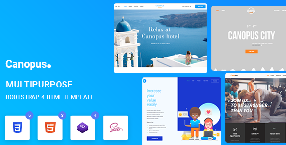 Canopus - Multipurpose HTML Template by Tortoiz